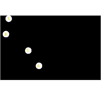 Esquema y despiece de estructura Tonka fijación plana